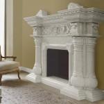 Camino in marmo bianco di Carrara