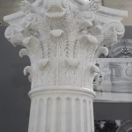 Colonna e Capitello in Marmo Bianco di Carrara
