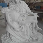 La Pietà di Michelangelo - Scultura in marmo bianco
