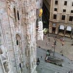 montaggio guglia 18 Duomo di Milano