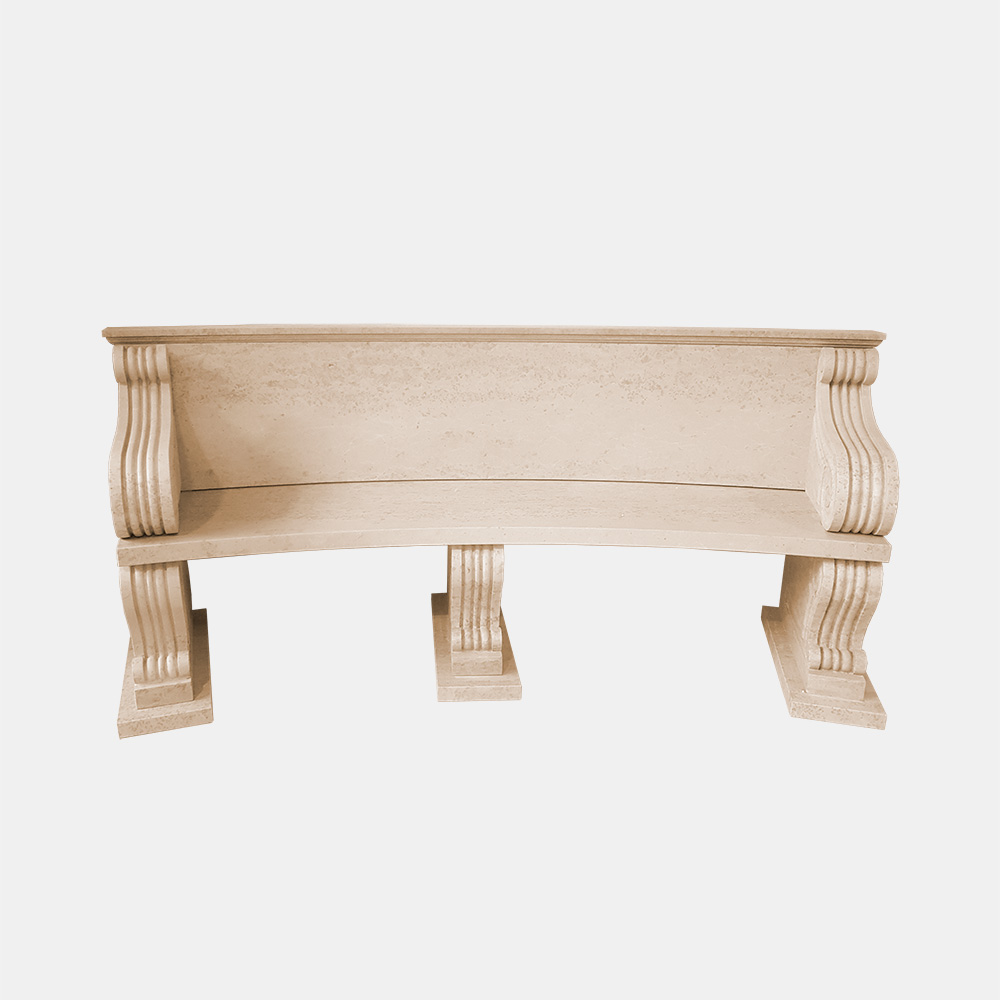 Travertine Bench