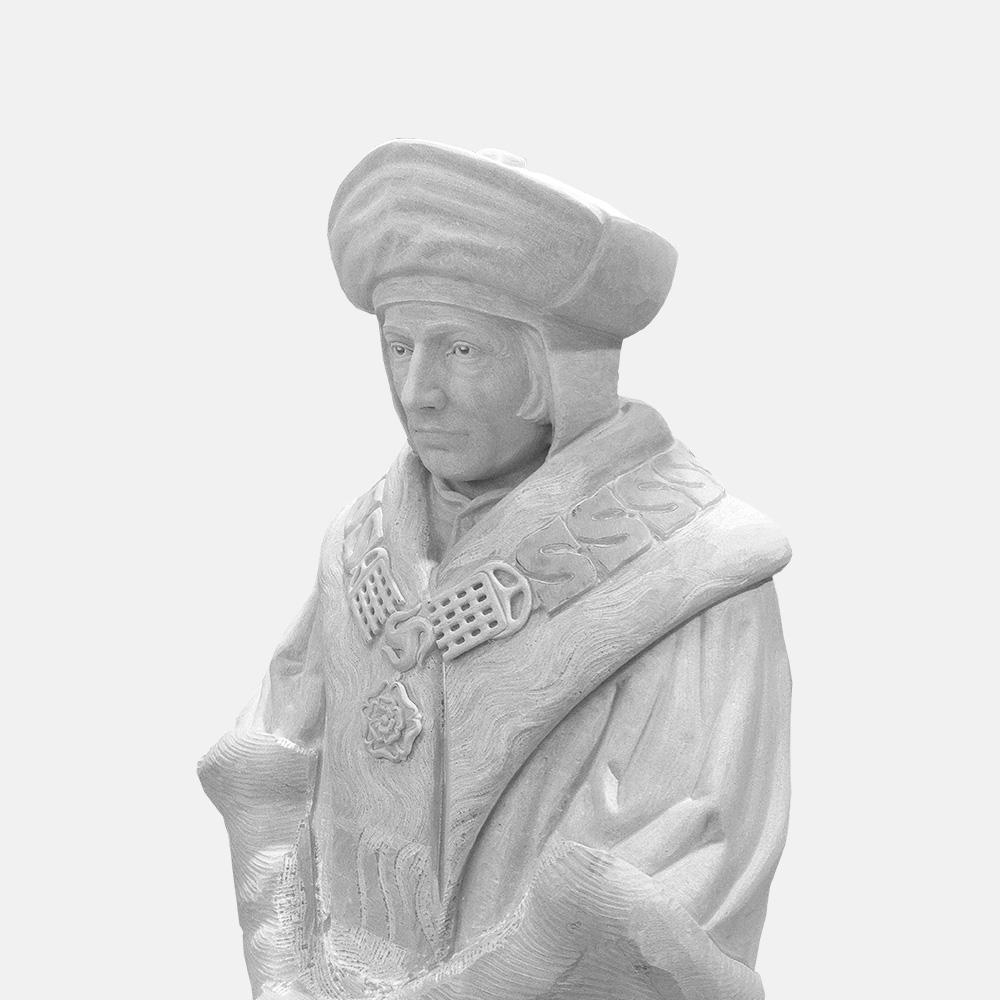 CRISTOFORO COLOMBO busto in marmo